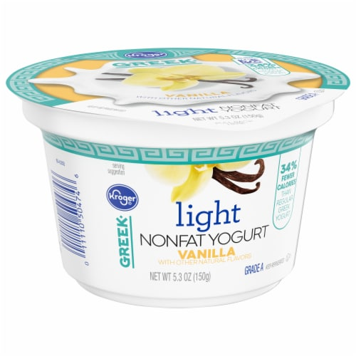 Kroger® Vanilla Light Nonfat Greek Yogurt Perspective: front