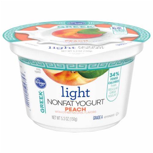 Kroger® Peach Light Nonfat Greek Yogurt Perspective: front