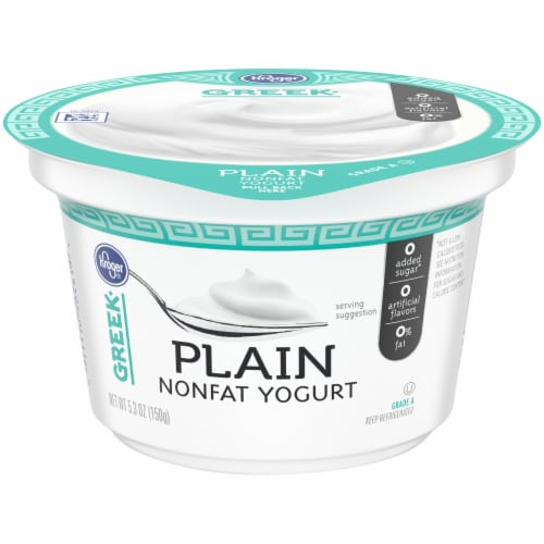 Kroger® Plain Nonfat Greek Yogurt Perspective: front
