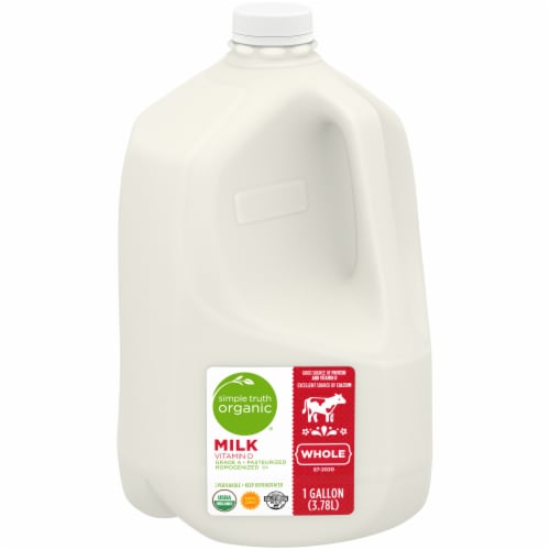 Simple Truth Organic® Whole Vitamin D Milk Perspective: front