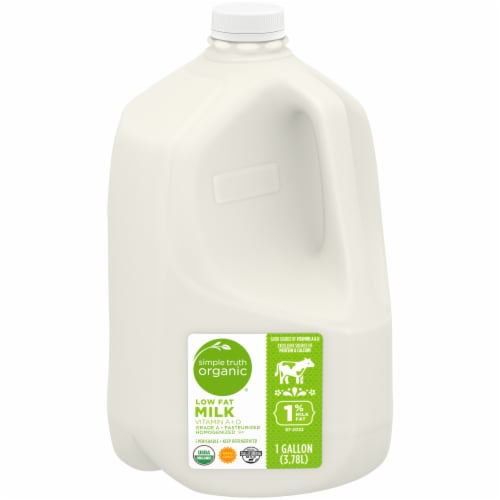 Simple Truth Organic® 1% Low-fat Milk Perspective: front