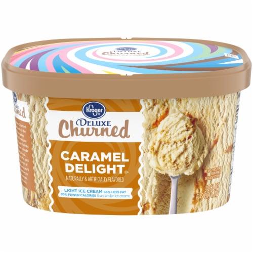 Kroger® Deluxe Churned Caramel Delight Light Ice Cream Perspective: front