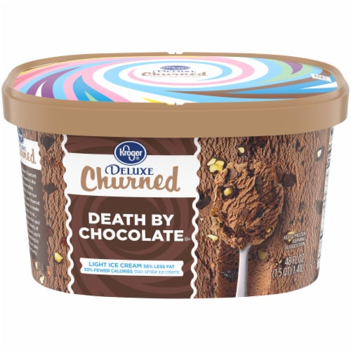Kroger® Deluxe Death By Chocolate Churned Light Ice Cream Perspective: front
