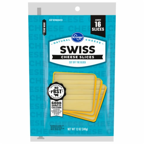 Kroger® Swiss Cheese Slices Perspective: front