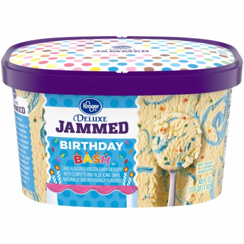 Kroger® Deluxe Jammed Birthday Bash Ice Cream Perspective: front