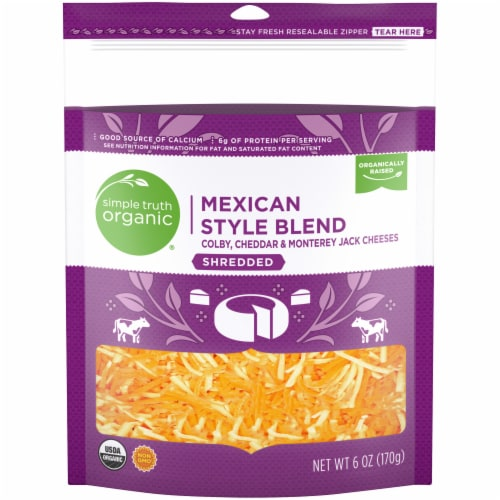 Simple Truth Organic® Mexican Style Blend Finely Shredded Cheese Perspective: front