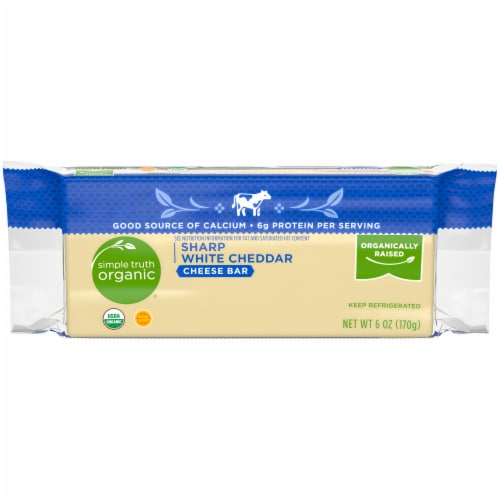 Simple Truth Organic® Sharp White Cheddar Cheese Bar Perspective: front