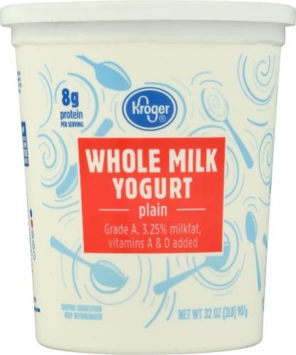 Kroger® Whole Milk Plain Yogurt Perspective: front