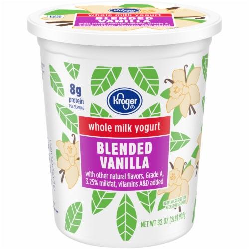 Kroger® Whole Milk Blended Vanilla Yogurt Perspective: front