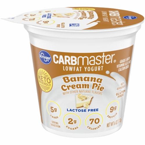 Kroger® CarbMaster® Banana Cream Pie Lowfat Yogurt Perspective: front