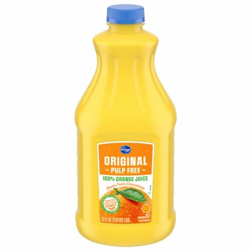 Kroger® Original Pulp Free 100% Orange Juice Perspective: front
