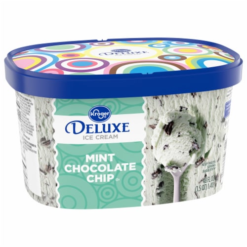 Kroger® Deluxe Mint Chocolate Chip Ice Cream Perspective: front