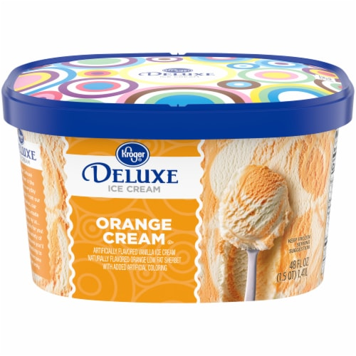 Kroger® Deluxe Orange Cream Ice Cream Perspective: front