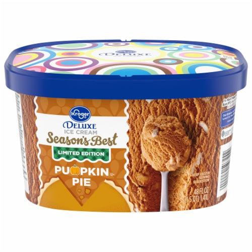 Kroger® Deluxe Season's Best Pumpkin Pie Ice Cream Perspective: front