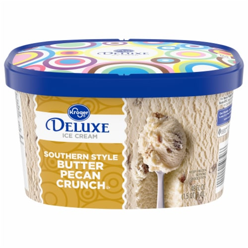 Kroger® Deluxe Southern Crunch Butter Pecan Ice Cream Perspective: front