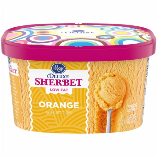Kroger® Deluxe Low Fat Orange Sherbet Perspective: front
