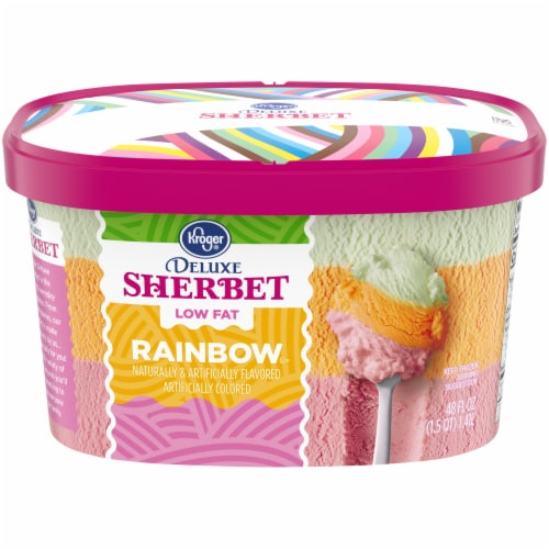 Kroger® Deluxe Low Fat Rainbow Sherbet Perspective: front