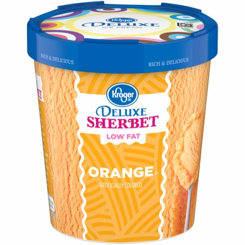 Kroger® Deluxe Orange Sherbet Perspective: front