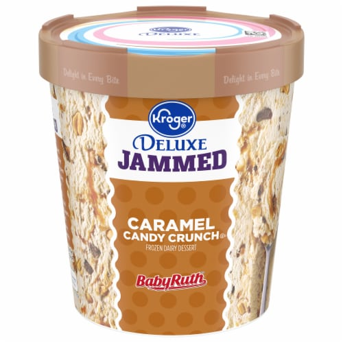 Kroger® Deluxe Jammed BabyRuth Caramel Candy Crunch Flavored Frozen Dairy Dessert Perspective: front