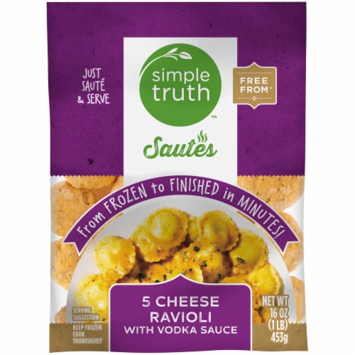 Simple Truth™ Sautes 5 Cheese Ravioli with Vodka Sauce Frozen Meal Perspective: front