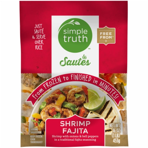 Simple Truth™ Sautes Shrimp Fajitas Frozen Meal Perspective: front