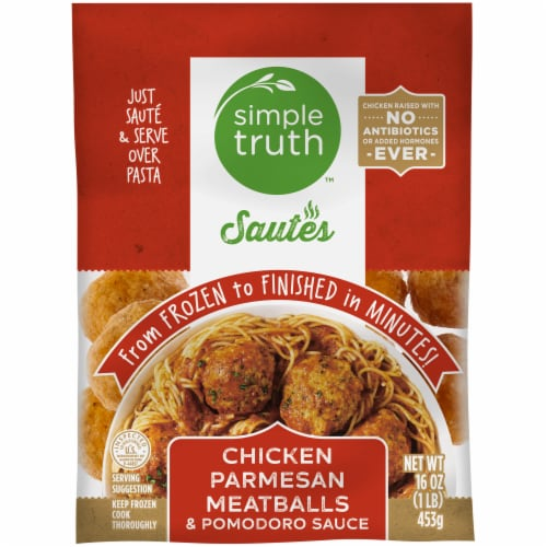 Simple Truth™ Sautes Chicken Parmesan Meatballs Pomodoro Perspective: front