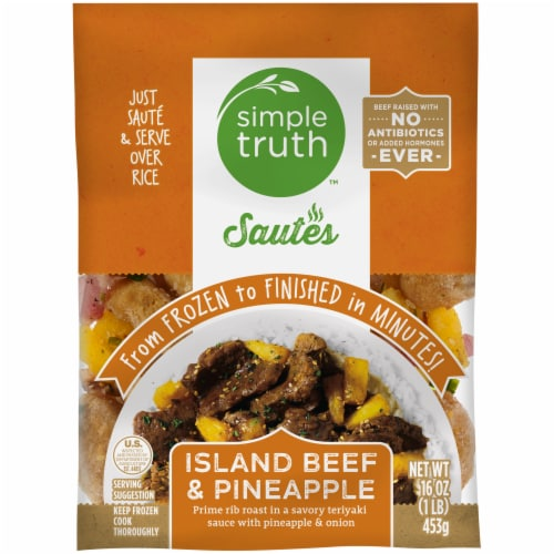 Simple Truth™ Sautes Island Beef & Pineapple Frozen Meal Perspective: front