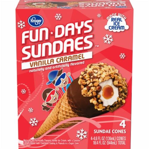 Kroger® Fun Daze Sundaes Vanilla Caramel Perspective: front