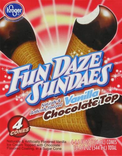 Kroger® Fun Daze Sundaes Vanilla Chocolate Top Perspective: front
