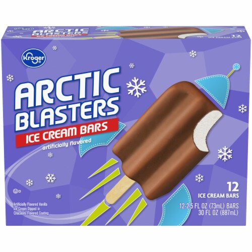Kroger® Arctic Blasters Ice Cream Bars 12 Count Box Perspective: front