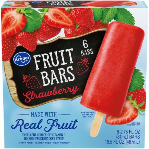 Kroger® Strawberry Fruit Bars Perspective: front