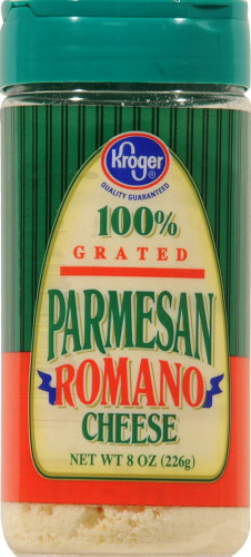 Kroger® Grated Parmesan Romano Cheese Perspective: front