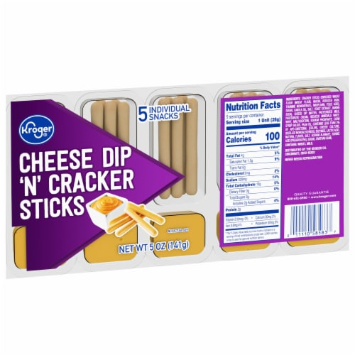 Kroger® Cheese Dip 'N' Cracker Sticks Snack Pack Perspective: front