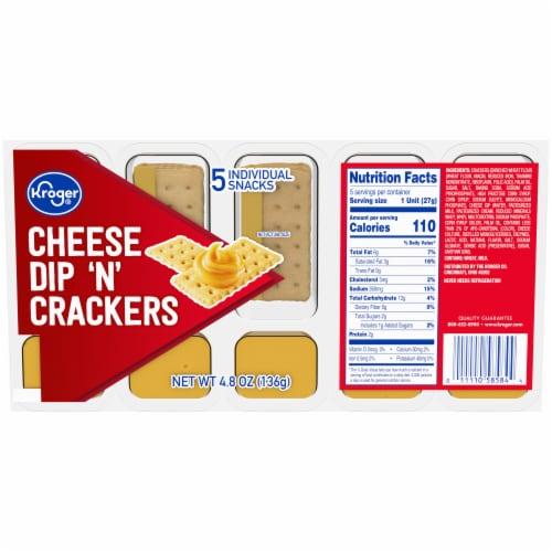 Kroger® Cheese Dip 'N' Crackers 5 Count Perspective: front