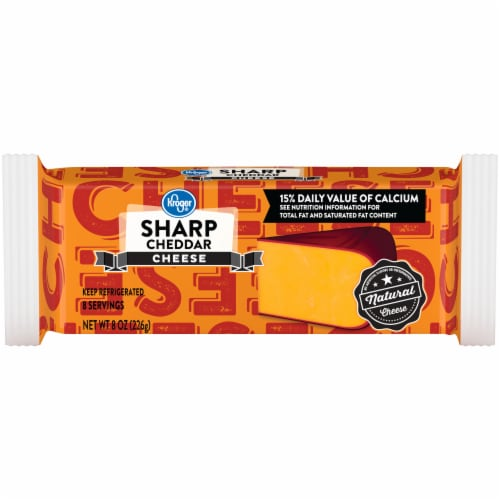 Kroger® Sharp Cheddar Cheese Bar Perspective: front
