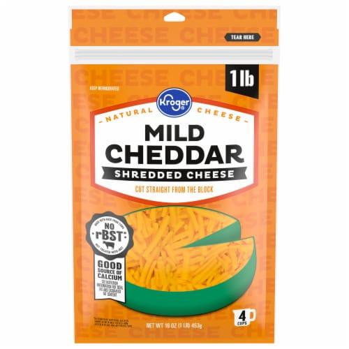 Kroger® Shredded Mild Cheddar Cheese Perspective: front