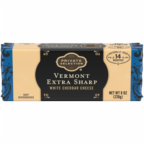 Private Selection™ Vermont Extra Sharp White Cheddar Cheese Bar Perspective: front