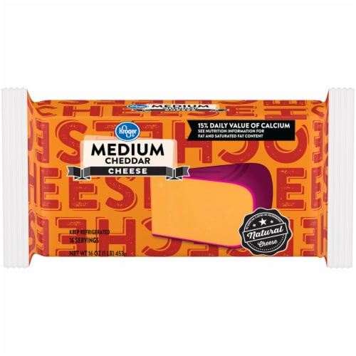 Kroger® Medium Cheddar Cheese Bar Perspective: front