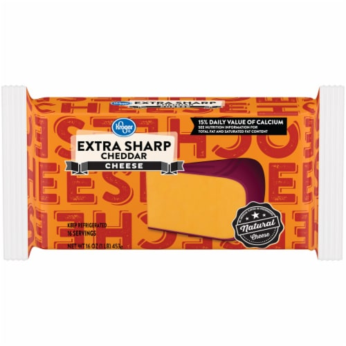 Kroger® Extra Sharp Cheddar Cheese Bar Perspective: front