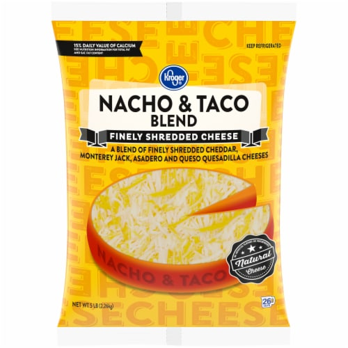 Kroger® Shredded Nacho & Taco Cheese Blend Perspective: front