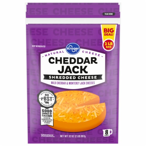 Kroger® Shredded Cheddar Jack Cheese Perspective: front