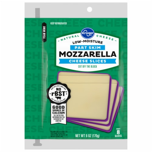 Kroger® Mozzarella Cheese Slices Perspective: front