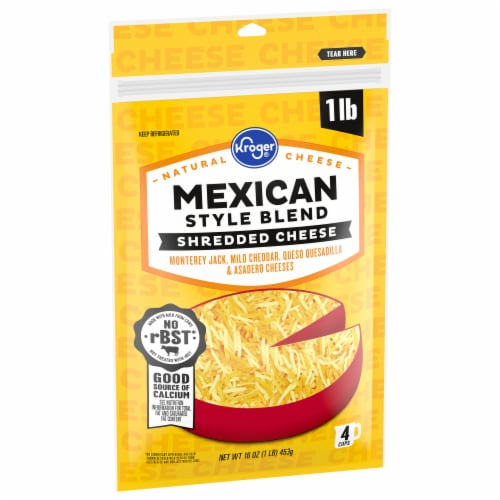 Kroger® Shredded Mexican Style Blend Cheese Perspective: front