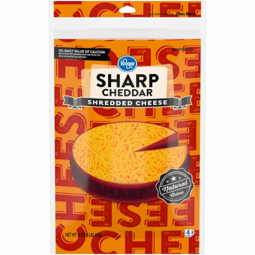 Kroger® Shredded Sharp Cheddar Cheese Perspective: front