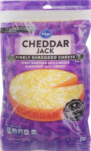 Kroger® Finely Shredded Cheddar Jack Cheese Perspective: front