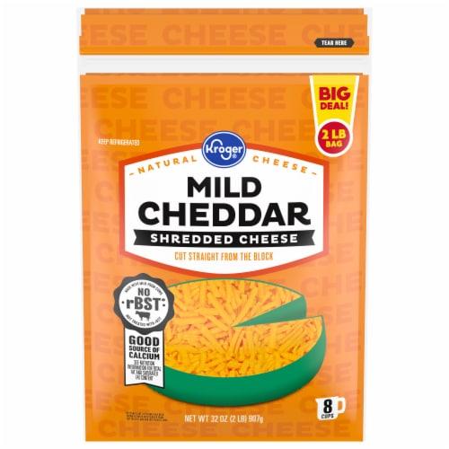 Kroger® Mild Cheddar Shredded Cheese Perspective: front