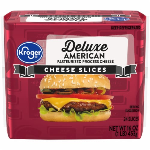 Kroger® Deluxe American Cheese Slices Perspective: front