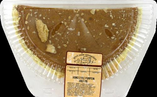 Kroger Bakery Half Pumpkin Pie Perspective: front