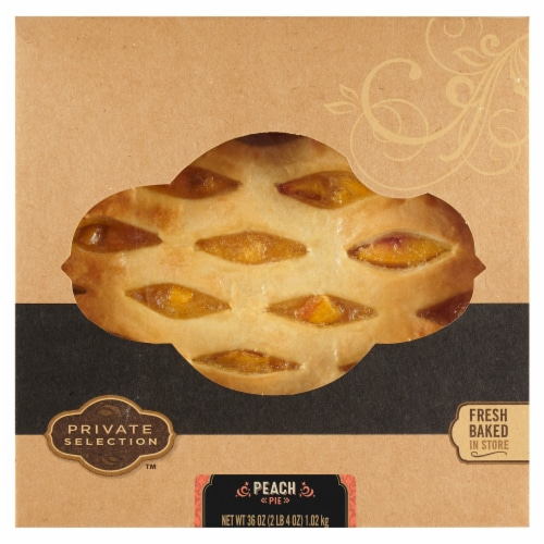 Private Selection™ Peach Lattice Pie Perspective: front