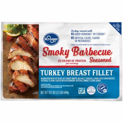 Kroger® Smoky Barbecue Seasoned Turkey Breast Fillet Perspective: front